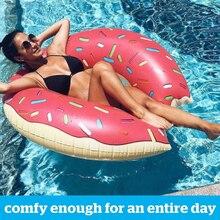 Inflable Donut anillo de natación piscina gigante flotador verano actividades al aire libre playa fiesta piscina colchón inflable agua