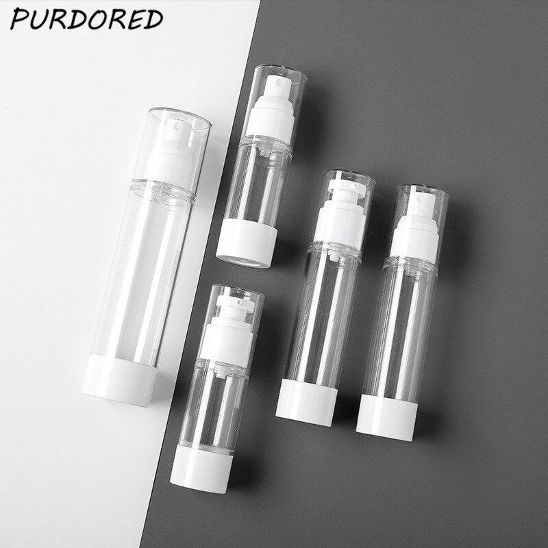 PURDORED 1 Pc Women Spray Cosmetic Lotion Bottle Clear Traveler Press Bottle Shampoo Packing Bottle  Liquid Dispenser Bottles