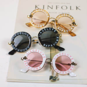 Kids Sunglasses Feminino-Accessories Steampunk Vintage Luxury Oculos Girls Children Round