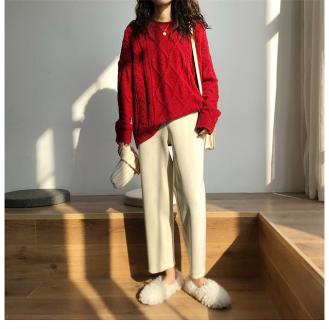 Elegant High Waist Corduroy Pants 2