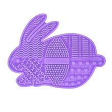Портативная Кисть для макияжа с милым мультяшным Кроликом коврик