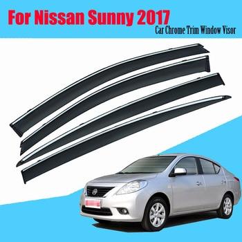 For Nissan sunny 2011-2018 Car Sun Window Visor Rain Guard Vent Shade Accessories 4Pcs