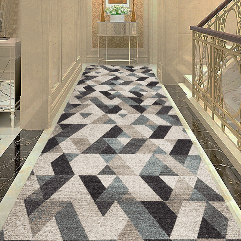 Nordic Aisle Geometric Runners Stair Carpet Wedding Accessories Aisle Hallway Corridor Carpet Rugs For Step Party Kitchen Mat