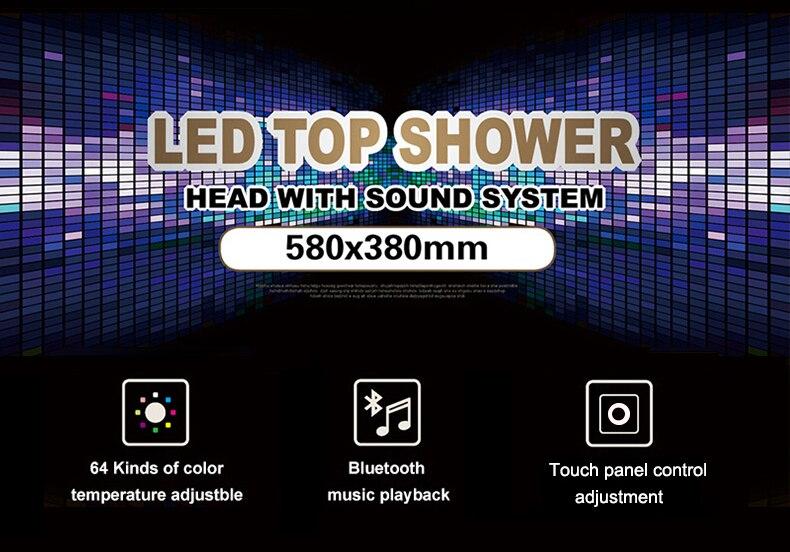 Hf9d3a579d80049ce8dd6c74683eb18caJ M Boenn Music Shower System Rain ShowerHeads LED Shower Set Bathroom Faucet Thermostatic Valve Matte Black/Chrome Bath Mixer Tap