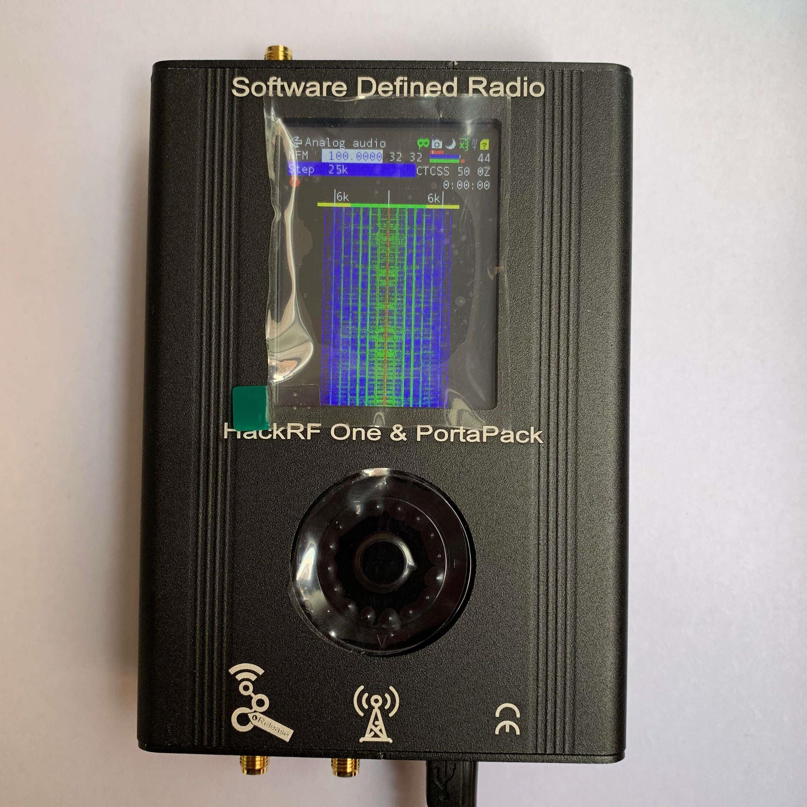 Последняя версия 2020, программно определяемый радиоприемник PORTAPACK + HACKRF ONE с частотой от 1 МГц до 6 ГГц SDR + 0.5ppm TXCO, новейший portapack и hackrf