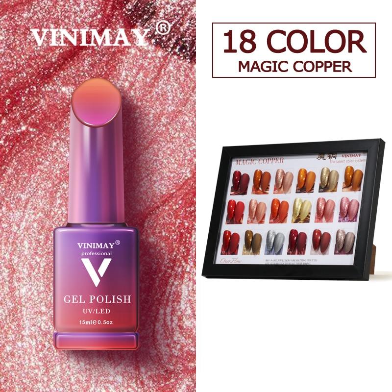 VINIMAY 18 Couleur Ensemble de Manucure pour L'art des Ongles Nail Art Design 15 Ml Imbibent Émail Vernis UV Gel Vernis À Ongles Vernis
