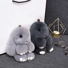 15CM rabbit keychain fur fashion toy handbag car jewelry pendant