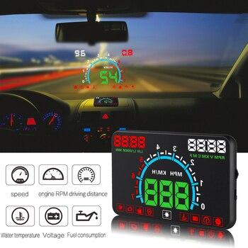 GEYIREN E350 автомобильный HUD лобовый дисплей OBD2 цифровой спидометр лобовое стекло проектор сверхскоростная сигнализация для всех автомобилей и...