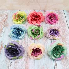 цена на New Arrival Fashion 10cm Artificial Flower Head Rose Wedding Wreath Scrapbook Party Craft Decoration Cheap