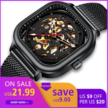 Get more info on the Men Automatic Mechanical MEGALITH 2019 Fashion Watch Mens Sports Luxury Waterproof Luminou Steel Mesh Watches Relogio Masculino