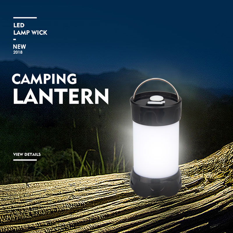 5 Mode USB Rechargeable Mini Portable Lanterns Magnet Portable Outdoor LED Camping Lantern Flashlight Waterproof White Red Light
