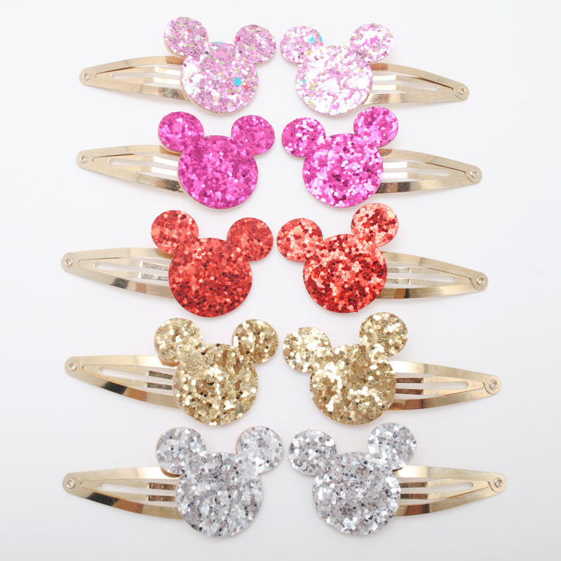 10pcs/lot Small Size Girls Hairclips Glitter Heart  Birthday Gift Baby Girls Hair Accessories Kids  Hair Clip For Children