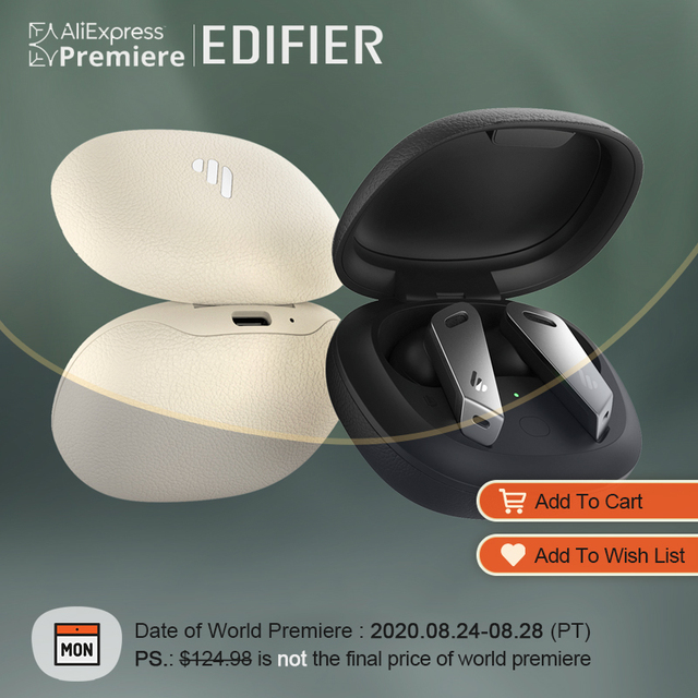World Premiere 0824 EDIFIER TWSNB2 TWS ANC bluetooth 5 0 Wireless Bluetooth Earphone up to 32h playback time Edifier Connect APP