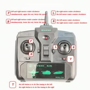 Image 4 - 1 セット 2.4 グラム差動 4ch 受信機 + リモコンラジオシステム速度 rc タンクボートスピードボートアクセサリー