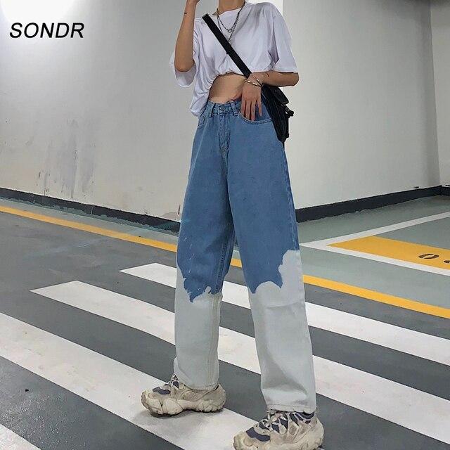 Купить брюки женские джинсовые с широкими штанинами свободные джоггеры картинки