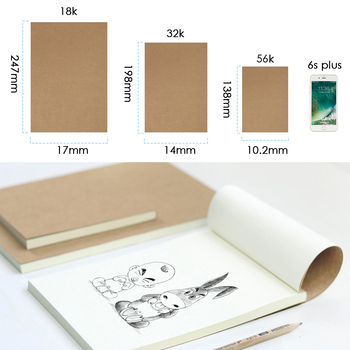 80 Sheets 18K/32K/56K Blank Flipbook Kraft Cover Drawing Sketchbook Thumb Flip Books For Animation Cartoon Creation​