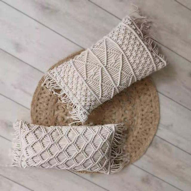 Macrame Handmade Rectangle Cushion
