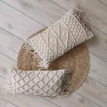 2019 New Macrame Handmade Cotton Thread Pillow Covers Sofa Cushion Cover Decorative Pillowcases Home Textile