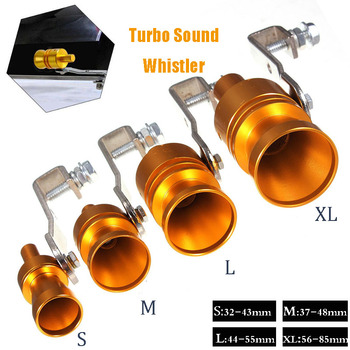 цена на Gold Motorbike Car Blow Off Turbo Whistle Exhaust Muffler Pipe Aluminum Simulator Sound Pipe Car Motorcycle S/M/L/XL Car Styling