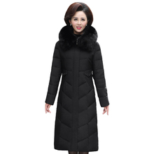 Real Fox Fur Collar 70% White Duck Down Winter Coat Women Parka Plus Size Women Coat Down Jackets Mother Women Winter Clothes стоимость