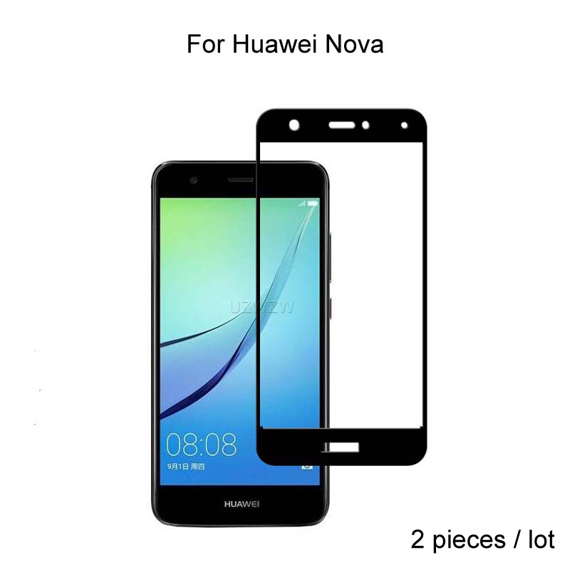 2pcs For Huawei Nova Glass Full Cover Tempered Glass Screen Protector 9H Hardness Protective Glass For Huawei Nova