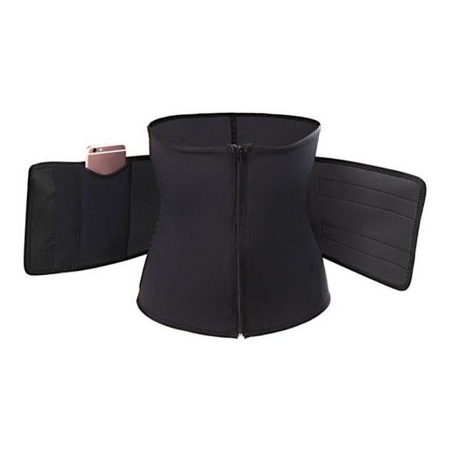1PC Women Sauna Thermo Shaper Sweat Waist Trainer Belt Slimming Vest Corset Black Blue 2