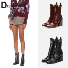 DORATASIA New INS Hot Plus Size 35-48 Brand Designer Booties Ladies Fashon Fretwork Ankle Boots Women 2019 High Heel Shoes Woman недорго, оригинальная цена