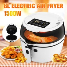 Pizza-Cooker Fryer Oil-Free 8L for Roasting Health LCD Smart-Touch Kitchen Cooking-Tools