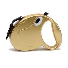Модный поводок-рулетка для собак поводок для собак автоматический удлиняющийся поводок для ходьбы для средних больших собак нейлоновые поводки 2 цвета Z