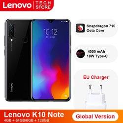 Перейти на Алиэкспресс и купить global version lenovo k10 note(z6 lite) 6gb 128gb snapdragon 710 octa core smartphone triple back cams 6.3 inch waterdrop
