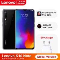 Global Version Lenovo K10 Note(Z6 Lite) 6GB 128GB Snapdragon 710 Octa Core Smartphone Triple Back Cams 6.3 inch WaterDrop
