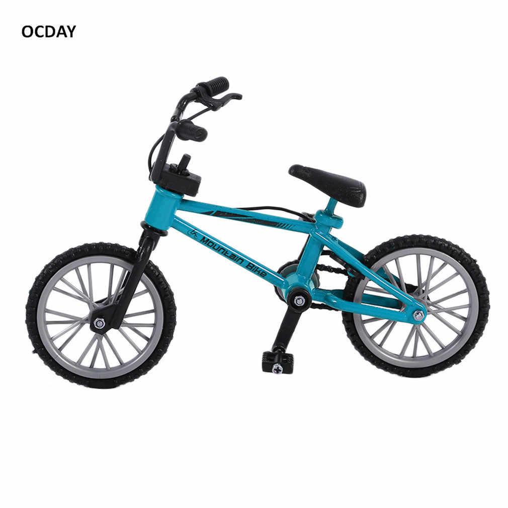 OCDAY אצבע לוח אופניים צעצועי עם בלם חבל כחול סימולציה סגסוגת אצבע bmx אופני ילדי מתנה מיני גודל מצחיק