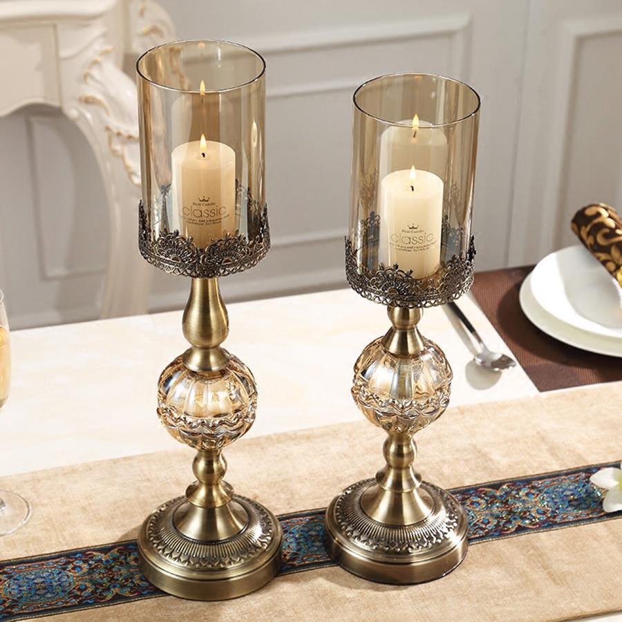 Luxe Amerikaanse Kandelaar Metalen Romantische Verjaardag Kaarsen Wieden Kaars Kerst Houders Decoraties Thuis Room Decor 50X028 - 4