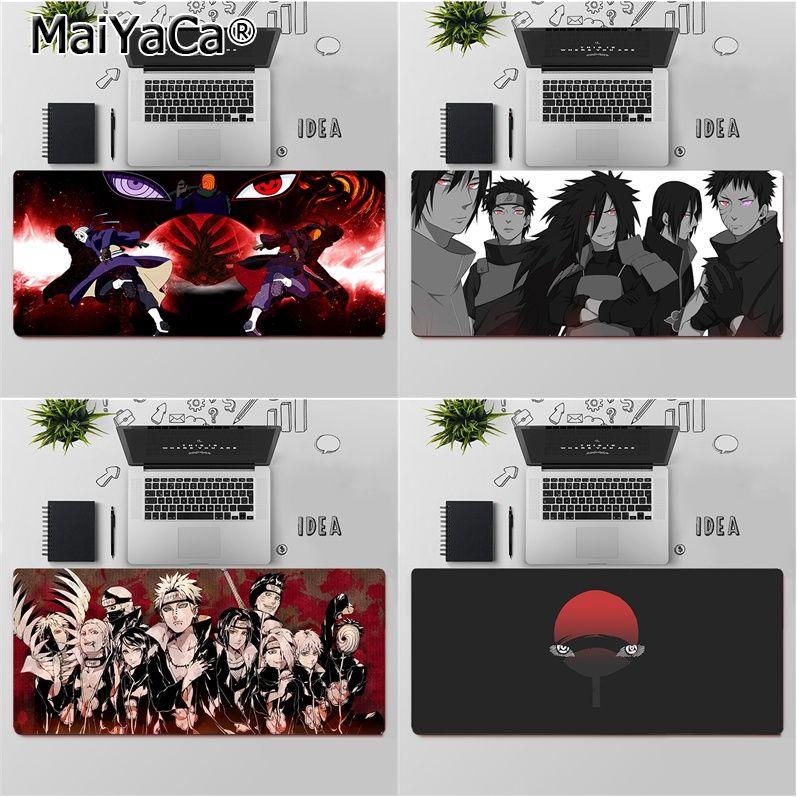 MaiYaCa высококачественный Настольный резиновый коврик для мыши Obito Uchiha для ноутбука, бесплатная доставка, большой коврик для мыши, коврик для ...