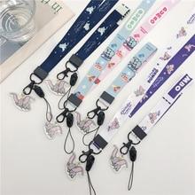 Anime nette cartoon anhanger ausschnitt lanyard schlussel rohs zertifikat gym handliche mit USB abzeichen halter DIY lanyard