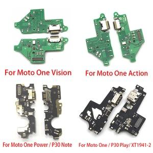 Image 3 - 10 adet yuva konnektörü USB şarj aleti şarj kurulu portu Flex kablo Moto G5 G4 G6 G7 G8 G9 oyun artı güç lite One hiper makro