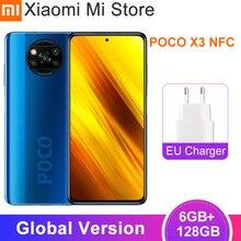 Versão global xiaomi poco x3 nfc smartphone 6gb ram 128gb rom snapdragon 732g octa núcleo 64mp 5160mah bateria 33w carga rápida