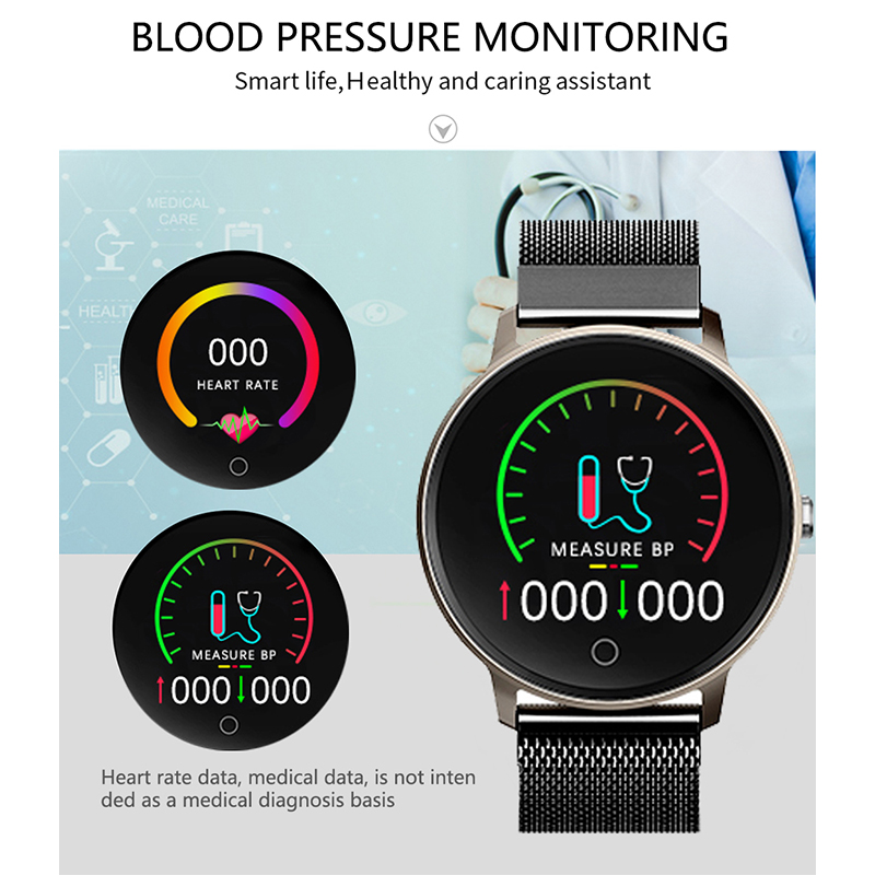 LIGE Women Smart watch Health Monitor Heart Rate Blood Pressure Waterproof Pedometer Men 39 s and Women 39 s Sports Smartwatch N58 in Smart Watches from Consumer Electronics
