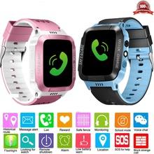Anti-lost dzieci bezpieczne GPS Tracker SOS zadzwonić telefon GSM smart watch ekran dotykowy dla IOS Android tanie tanio NoEnName_Null Angielski Passometer Fitness tracker Wiadomość przypomnienie Przypomnienie połączeń Odpowiedź połączeń