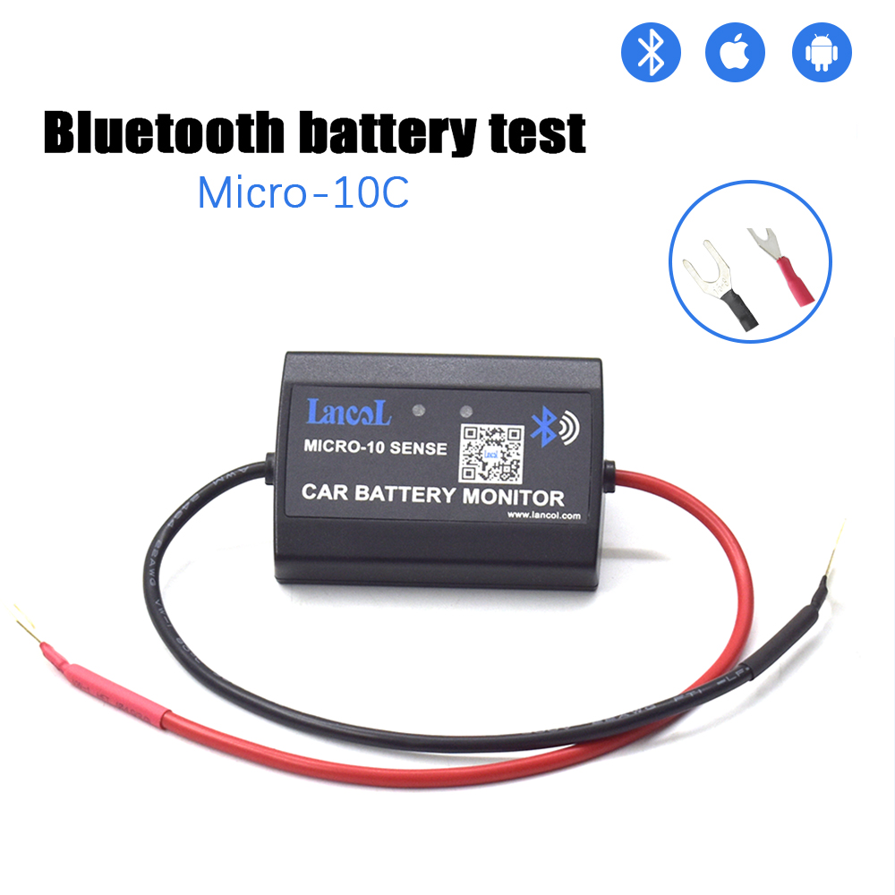 MICRO-10 New C Version  Bluetooth 12V Car Voltmetery Monitoring Car Tester Phone Show