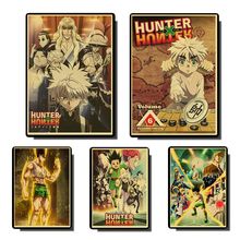 Hunter x Hunter Poster Popular Classic Japanese Anime Home Decor Retro Poster Prints Kraft Paper Wall Art Home Room Decor