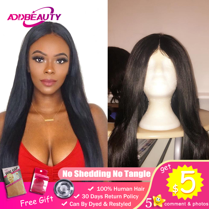 4x4 5x5 6x6 DIY Custom Wigs For Black Women 150% Natural Color Pre-Plucked With Baby Hairline Brazilian Straight Virgin Hair