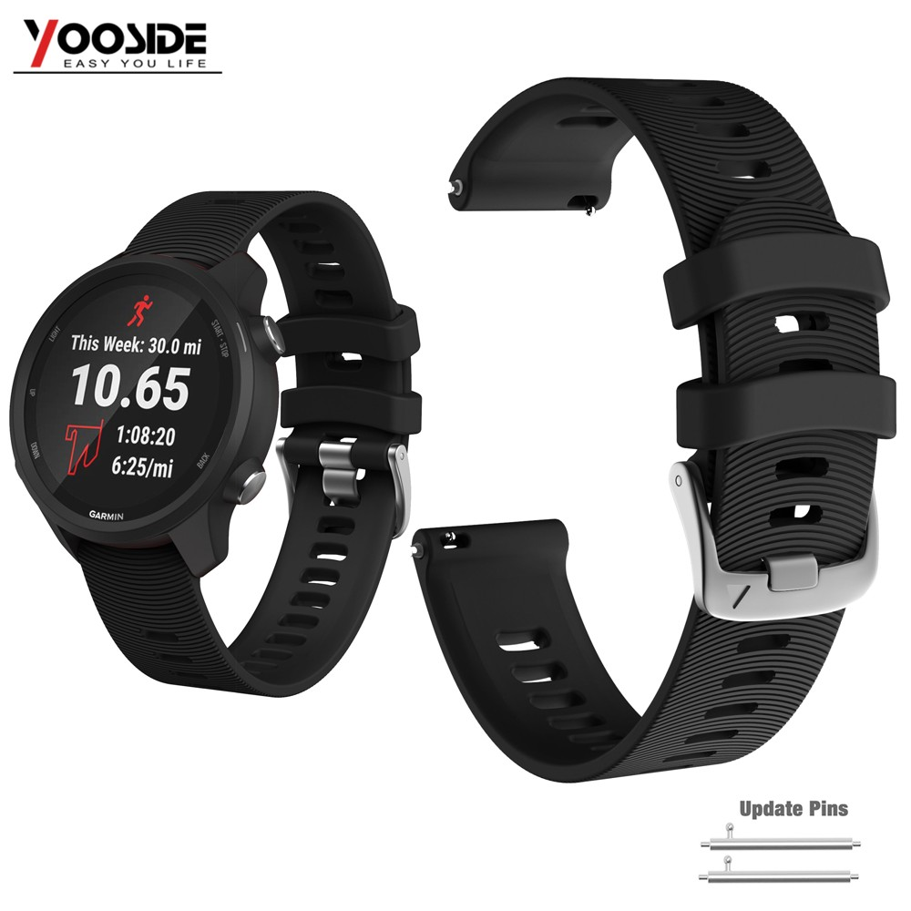 Vivoactive 3 Watch Strap 20mm Watch Band Silicone Waterproof Wristband  For Garmin Vivoactive 3 Music, Forerunner 645/645 Music