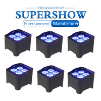 Professional Flat Battery Light 6Pcs/Lot Battery Wireless Uplightings LED Par Light DMX Remote Control Party Club DJ Equipment