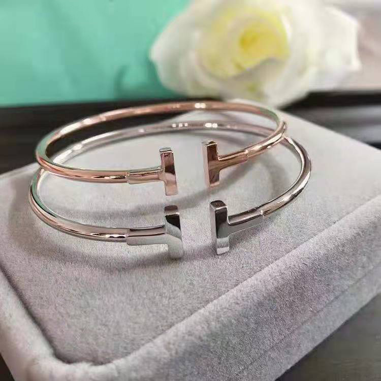 SHINETUNG S925 Sterling Silver Fashion Classic Temperament Double  Open Bracelet, 1: 1 High-end Women's Jewelry With Logo.