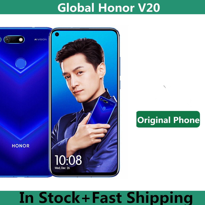 Международная версия Honor V20 Honor вид 20 PCT-L29 мобильный телефон Kirin 980 Android 9,0 6,4