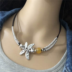 Anslow Brand Creative Design Top Quality Charms Choker Dragonfly Statement Necklace For
