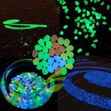 Светящийся Камни Декоративный Светящийся Темный Галька Камни для Сад Декор Дорожки Открытый Аквариум Плавательный Бассейн 10% 2F20% 2F50Pcs