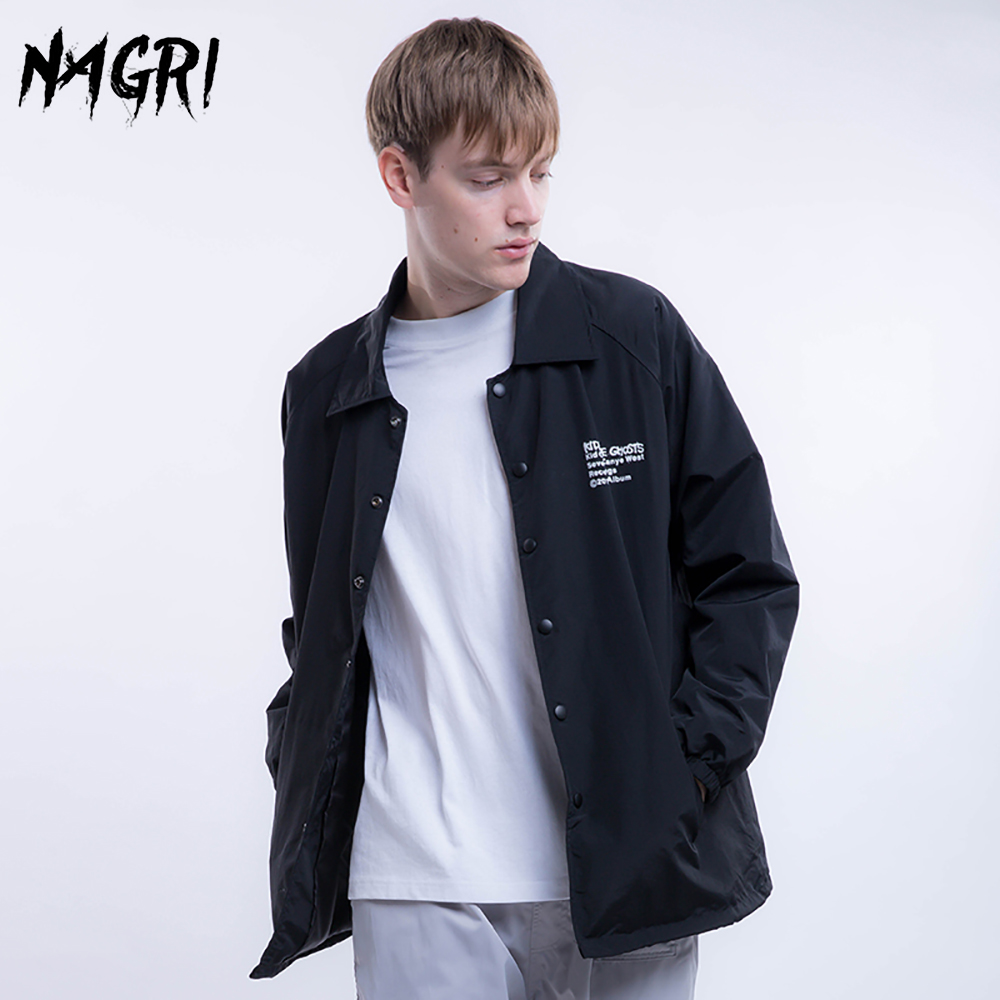 NAGRI Men Jacket Windbreaker Spring Autumn Hip Hop Streetwear Coat Casual Fashion Cargo Bomber Collar Jackets