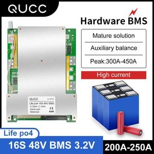 Image 1 - Qucc Lifepo4 48 فولت BMS 16S 200A 250A سيارة كهربائية موتور ليثيوم الحديد الفوسفات عالية الحالية الإفراط في الشحن لوح حماية التعادل